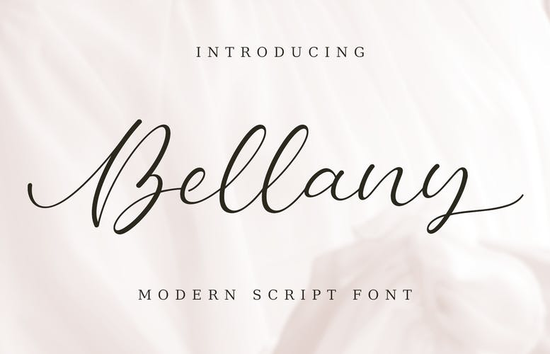 Thumbnail for Bellany | Modern Script Font