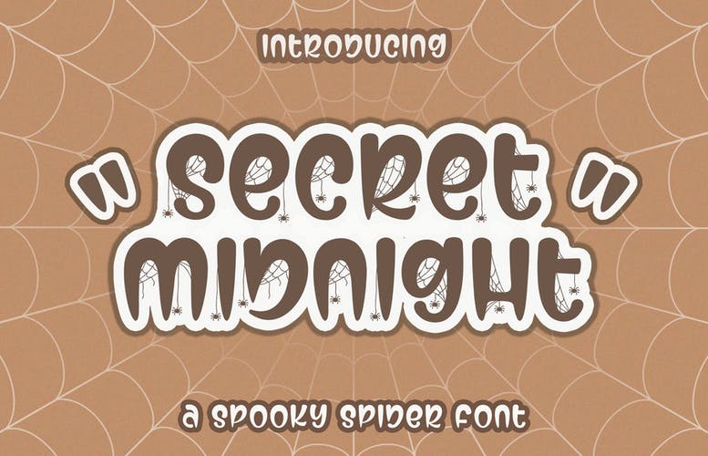 Thumbnail for Secret Midnight Spooky Font