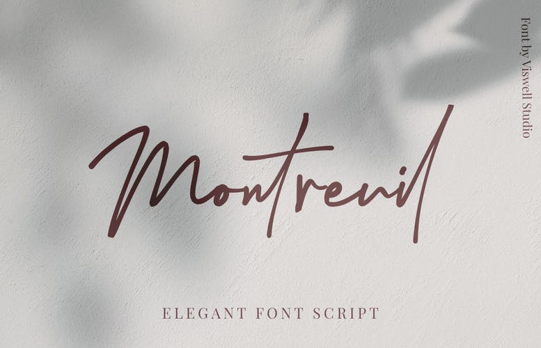Thumbnail for Montreuil Signature Font