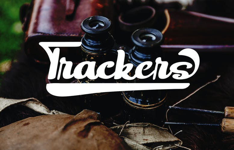 Thumbnail for Trackers - Bold Script Font