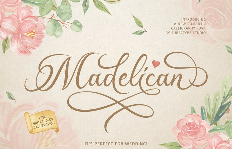 Thumbnail for Madelican Calligraphy Font