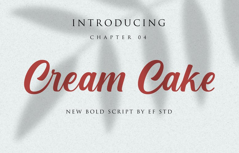 Thumbnail for Cream Cake | New Bold Script Font